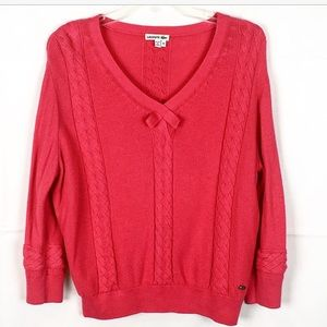 LACOSTE Pink Cable Knit Sweater-Size 40